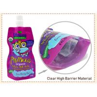 custom Made BPA Free Refillable Baby Food Pouches Reusable Spout Doypack