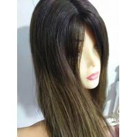 Quality European Human Hair Wig Jewish Wig Kosher Wig, 22 inches Dark Roots for sale