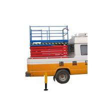 Wholesale 2.2Kw Manganese Steel Truck Mounted Scissor Lift with Four Wheel , 11 m from china suppliers
