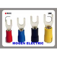 Quality Hook Type spade insulated wire crimping terminals with CE approval  ,AWG12-10 for sale
