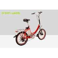 Quality Red Citizen Lightweight 20 Inch Folding Electric Bike 36v 250w V Brake for sale