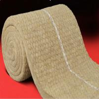 Wholesale Insulation rock wool blanket with wire mesh for oven and buildings from china suppliers