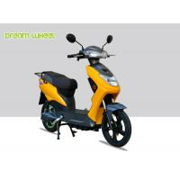 Wholesale Yellow Black Narrow Body Pedal Assist Electric Bike 60-70km Distance , EEC Standard from china suppliers
