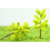 Wholesale Railway Scenery Miniature Model Trees Yellow Green Avenue Planting Wire Tree 3.5cm from china suppliers