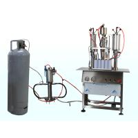 Wholesale 3 in 1 Semi Automatic Aerosol Filling Machine for Insecticide Pesticide Spray Pneumatic Drive from china suppliers