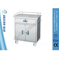 Wholesale Moveable Medical SS Anesthesia Instrument Medical Trolleys With Cabinet from china suppliers