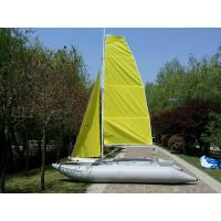 Wholesale Yellow PVC  Inflatable Sailing Boat 4.5m T6 Aluminum Mast With Two Sails from china suppliers