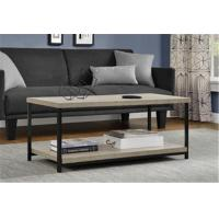 Wholesale Rustic Square Wood And Metal Coffee Table , Industrial Metal Coffee Table For Sitting Room from china suppliers