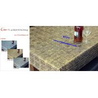 Wholesale 54' PVC Table Cloth--RNPT Ti-Gold Table cloth with polyester backing  for Iran and Turkey ,Azerbaijan ,South Africa from china suppliers