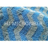 Wholesale Microfiber Wavy Jacquard Twisted Pile Fabric / Mop Fabric , 150D / 144F Yarn Count from china suppliers