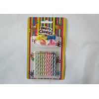 Wholesale Spiral Magic Relighting Birthday Candles / Funny Trick Candles Paraffin Wax from china suppliers