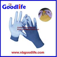 Buy cheap 13GBlue Polyester Lining PU Coated Touch-screen safety Glove from wholesalers