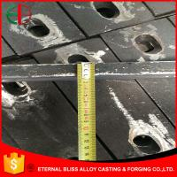 Wholesale HBW555XCr13 High Cr 20mm Thick White Iron Plates With Fishtail Bolt Holes EB11021 from china suppliers