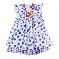 Wholesale Summer custom Woven Cute Cotton baby knitted dress patterns, Casual Skirt With Cap sleeve from china suppliers