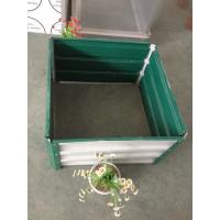 Wholesale Green DIY Raised Garden Beds For Vegetable , Galvanised Steel Easy Build Flower Pot from china suppliers