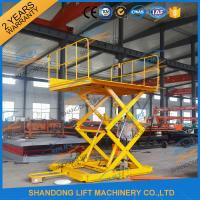 Wholesale 600KGS 2M Warehouse Hydraulic Cargo Scissor Lift with Movable Wheels from china suppliers