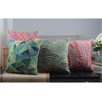 Wholesale OEM / ODM Linen Luxury Home Pillow Cushion Magenta Ikat Style from china suppliers
