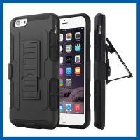 Wholesale Kickstand Bumper Iphone 6 Plus Protective Case Full Body Belt Clip Holster from china suppliers
