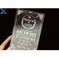 Wholesale Laser Cut Acrylic Wedding Invitation Cards / Mirror Clear Invitation Card from china suppliers