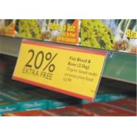 Wholesale Offset Printed Colorful Acrylic Clear Shelf Talker Sign Holder For Supermarket Display from china suppliers