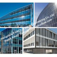 Quality Monolithic Glass Façade Curtain Wall Unitized and Fabricated with Insulated Thermal Broken Exposed Frame for sale