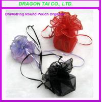 Wholesale Drawstring Round Pouch Organza, round organza bags, organza favor bag from china suppliers