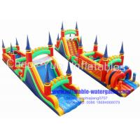 Wholesale Kids Inflatable Obstacle Course Bouncer Funny Jumping Toys 15M X 4M X 4M from china suppliers