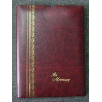 Wholesale Burgundy Gold Stamped Register Funeral Memorial Books 6Ring Binder from china suppliers