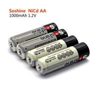 Wholesale Soshine 1.2V Ni-Cd Rechargeable AA/Mignon 1000mAh batteries from china suppliers