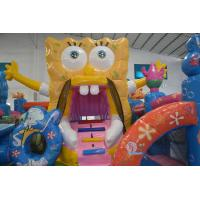 Quality Funny SpongeBob Square Pants Bouncy jumping Castles Waterproof For Kids for sale
