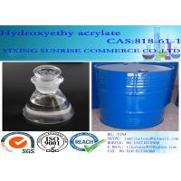 Buy cheap Clear Chemistry Intermediate Colorless Hydroxyethyl Acrylate Liquid CAS 818-61-1 from wholesalers