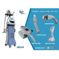 Wholesale 4 treatment handles vacuum +Velashape+Roller+ RF+ LED system competitive vacuum butt lifting liposuction machine price from china suppliers