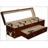 Wholesale Large Safe Wooden Watch Display Box for 40 Watches Display Cabinet Glass Top from china suppliers