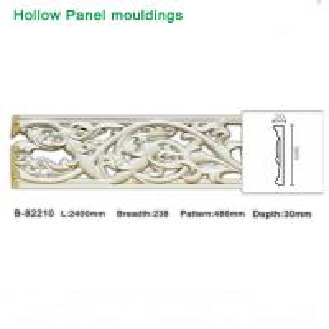 Quality Grape design polyurethane foam White hollow moulding for light through for sale