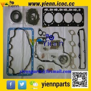 China Kubota V3300 V3300E V3300DI piston+ piston ring+full gasket kit with head gasket for Bobcat T300 engine overhual rebuild on sale