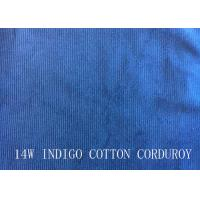 Wholesale 14W INDIGO COTTON CORDUROY FOR PANTS LIKE DEMIN FABRIC from china suppliers
