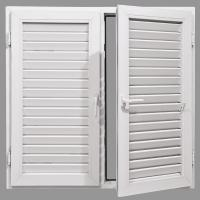Buy cheap Aluminum louvered shutter window from wholesalers