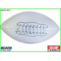 Wholesale Machine Sewn Leather American Football Balls Weighted Rugby Ball in White from china suppliers