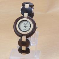 Wholesale Eco - friendly ladies maple wood bracelet watch waterproof , Japanese movement from china suppliers