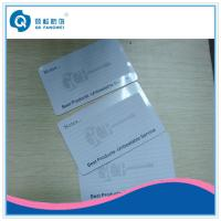 Wholesale Plastic Card Printing CR80 PVC Business Card With Signature Area / Signature Pannel from china suppliers