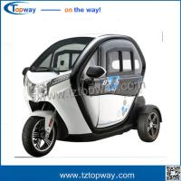Wholesale 72v 50AH battery 3 wheel tricycle electric car for passenger with seat from china suppliers