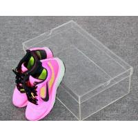 Wholesale Customized clear acrylic shoe case plexiglass shoe display box from china suppliers