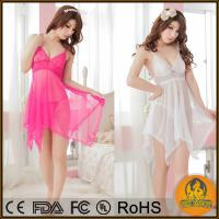 China Sexy Lingerie Baby doll 4 Colors Erotic Lingerie Hot Sexy Dress Pajamas for Women Plus on sale
