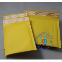 Wholesale Safety packages for phone stationary gold color self sealed yellow Kraft bubble mailers 20cm*25cm from china suppliers
