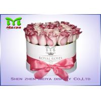 Quality Romantic Beautiful Flower Gift Luxury Flower Box With Ribbon , Flower Hat Box for sale