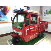 Wholesale 48V 1100W 3 wheel Electric Cargo Tricycle Red / Blue With Closed Cabin from china suppliers