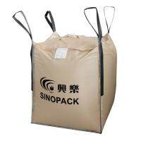 Wholesale Beige Four-panel Big PP Container Bag FIBC with side seam loops from china suppliers