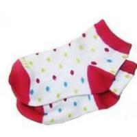 Wholesale 100% Cotton Polka Dot No Seam Anti Slip Baby Socks, Short Tube Baby Girls Dotted Sock from china suppliers