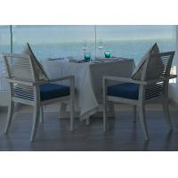 Buy cheap Hotel Island Resort White Square Ash Wood 80 × 80 Dining Table With Armchair from wholesalers