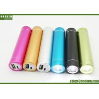 Wholesale Tube Flashlight Smartphone Power Bank , Gold 2600mAh Portable Mobile Charger from china suppliers